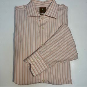 TailorByrd Long Sleeve Cotton Striped Shirt